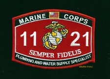 MOS 1121 PLUMBING WATER SUPPLY SPECIALIST HAT PATCH US MARINES PIN UP VET GIFT