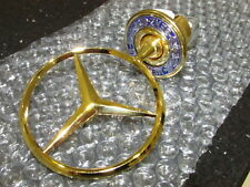 BRAND NEW 24ct GOLD PLATED MERCEDES BENZ BONNET HOOD STAR BADGE EMBLEM ALL MODEL