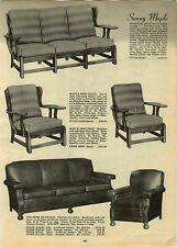1947 PAPER AD Charles of London Leather Chair Sofa