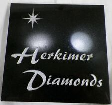SQUARE GRANITE OR QUARTZ HERKIMER DIAMONDS COUNTERTOP ADVERTISING TILE PLAQUE