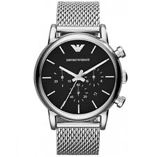 NEW EMPORIO ARMANI MENS GENUINE LUIGI MESH STEEL WATCH - AR1811 - RRP £239