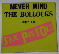 "1980's Sex Pistols ""Never Mind the Bollocks - Here's the Sex Pistols"" Pin 2""x2"""