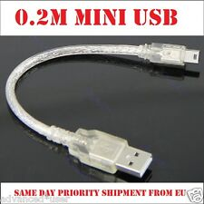 0.2m Hi-Speed USB 2.0A Mini USB 5Pin Data & Power Cable For Mobile Phone MP3 MP4