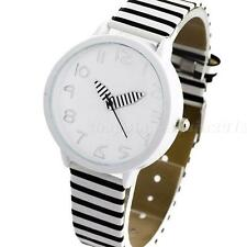 Stunning Women's Zebra Stripes Faux Leather Strap Quartz Analog Wrist Watch SPUK