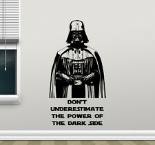 Star Wars Wall Decal Darth Vader Quote Vinyl Sticker Movie Poster Decor 142crt