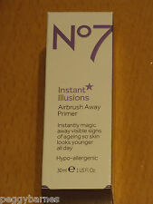 No7 INSTANT ILLUSIONS AIRBRUSH AWAY PRIMER 30ml NEW/BOXED