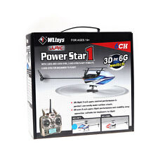 New WLtoys V977 Power Star X1 6CH 2.4G Brushless 3D Flybarless RC Helicopter RTF