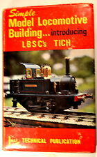 SIMPLE MODEL LOCOMOTIVE BUILDING book by LBSC 1968 myford lathe  live steam