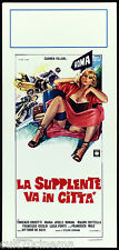 LA SUPPLENTE VA IN CITTA' LOCANDINA CINEMA EROTICO CARMEN VILLANI 1979 AFFICHE