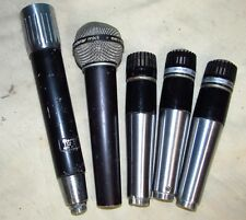 5 Vintage Mic Microphone Lot CLARICON/BEYER MKII/SHURE UNIDYNE 545D 544 J638