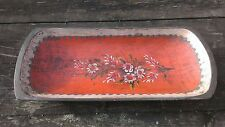 Antique Painted Rosemaling Dough Trug Wood Bowl Beautiful Folk Art Norwegian