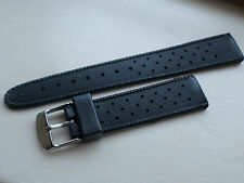 TROPIC EXCELLENT 19MM BLACK RUBBER SWISS SUB DIVE WATCH STRAP STRAIGHT ENDS