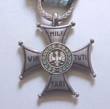 #131 POLAND POLISH VIRTUTI MILITARI, MOSCOW MADE,5TH CL,cross, medal, sterling