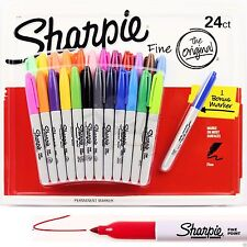 24 SHARPIE Markers Coloured Permanent Sharpies Marker Pen Bulk Texta Fine Point