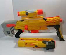 Nerf Longshot CS-6 Dart Gun with Extension Clip Scope Yellow N-Strike Long Shot