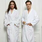 Soft White Cotton Bathrobe Robe Nightwear Long Robes Dressing Gown For Women Men
