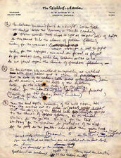 BOB DYLAN REPRO 1964 - CHIMES OF FREEDOM - HANDWRITTEN LYRICS . NOT CD DVD