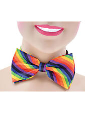 Rainbow Gay Pride Bow Tie Fancy Dress Clown Costume Accessory New Circus Stripe