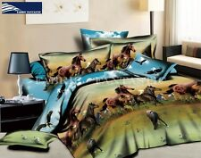 HORSE-3 King Size Bed Duvet/Doona/Quilt Cover Set 4 Pillowcases New