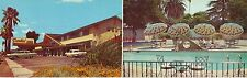 SUNDIAL LODGE McHenry Ave MODESTO, CA. bi-fold card Front view & pool
