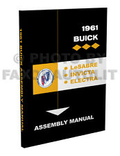 1961 Buick Factory Assembly Manual Invicta LeSabre Electra LeSabre Le Sabre