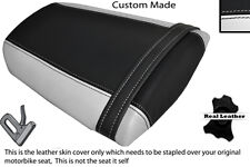 WHITE & BLACK CUSTOM FITS HONDA CBR 600 RR 07-12 REAR LEATHER SEAT COVER ONLY