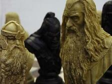 collectors stunning large heavy Lord of the rings Chess Set chessmen game pieces