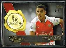 Topps PREMIER GOLD 2015 Alexis Sanchez Arsenal SILVER FRAME Best of Card #21/40