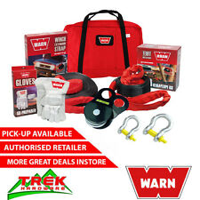 WARN RECOVERY KIT, BOW SHACKLE STRAP WINCH GLOVES EXTENSION BAG SNATCH BLOCK