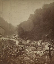 STEREOVIEW SLIPPERY ROCK AT KENNYS MILL. PITTSBURGH AND VICINITY.