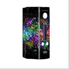 Skin Decal for Wisemec Reuleaux rx200  Vape Mod Box / Rainbow bubbles