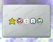Super Mario 8bit Power Ups Color Vinyl Sticker for Macbook Air/Pro