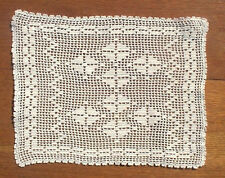 Doily Vintage Hand Crocheted Snow White