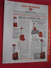 1945 VAN NORMAN AUTOMOTIVE ENGINE SHOP SERVICE EQUIPMENT BROCHURE
