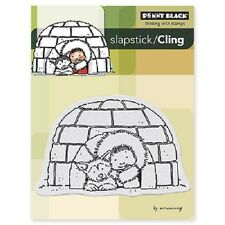 PENNY BLACK RUBBER STAMPS SLAPSTICK CLING IGLOO STAMP