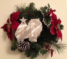 Pomeranian with Star, Dog Tree Topper, Wreath Decor, Holiday, Christmas Decor