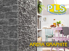 Arena Graphite Decorative Stone Wall Brick Panel 3D Cladding Tiles / PLS