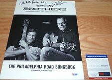 """PSA/DNA AUTOGRAPHED KEVIN BACON BROTHERS """"THE PHILADELPHIS ROAD SONGBOOK"""" A92188"""