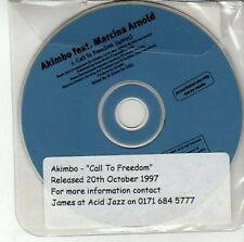(DD519) Akimbo ft Marcina Arnold, Call To Freedom - 1997 DJ CD