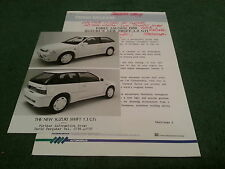 Late 1988 / 1989 SUZUKI SWIFT GTi 16 VALVE - UK PRESS RELEASE + PHOTO - BROCHURE