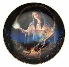 Maiden Of The Mystical Fire David Penfound Native American Woman Plate CP2581