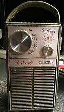 Rare Vintage Arrow Solid State AM Portable Radio Model TR-1200