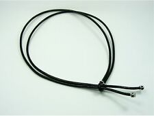 925 STERLING SILVER Genuine 2.5mm Leather LARIAT NECKLACE w/Double Closed Rings
