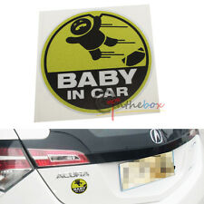 (1) Cute Cool Kids Baby IN Car SUV Truck Window Decal Sticker Warning Sign
