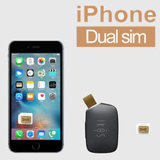 IKOS Bluetooth APP Dual SIM Card Adapter Dual Standby for iPhone 7 6S 6 Plus 5S