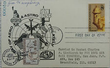 PUERTO RICO / SPACE 1971 ROCKET MAIL LABEL ON ASTRO PHILATELY EXPO CARD