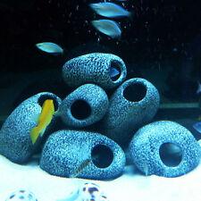 3Pcs Cichlid Stones Fish Tank Aquarium Ceramic Rock Cave Ornament Decoration New