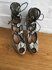 Giuseppe Zanotti Snakeskin Python Lace-Up Pums Sandals Shoes  size 41 US 11 UK 8
