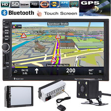 Navigation 2Din HD Car Stereo GPS MP3 Player Bluetooth FM Radio iPod TV Camera