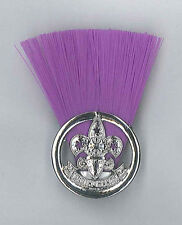 PHILIPPINE SCOUTS - SCOUT COMMISSIONER (PURPLE COLOUR) Metal Plume / Hat Patch